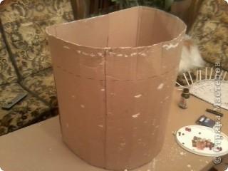 Вот такая получилась корзина в ванную комнату. фото 6