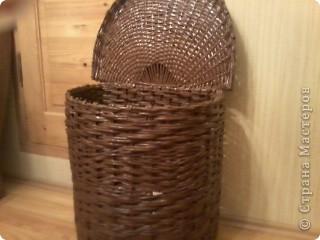 Вот такая получилась корзина в ванную комнату. фото 1