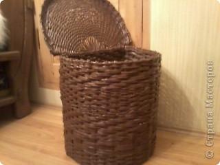 Вот такая получилась корзина в ванную комнату. фото 2