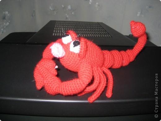 Вот такую скорпионшу связала я не День рождение Лёле своей.Автор игрушки yuliya-kinsfater ,правда оформила чуть по своему.. размер от мордочки до кончика хвоста 27 см. фото 1