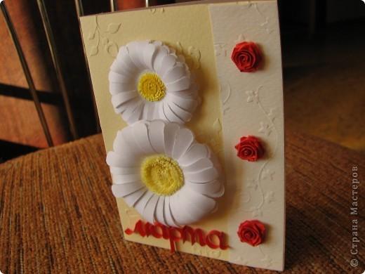 Вот такая открыточка на 8 марта у меня получилась))) фото 3