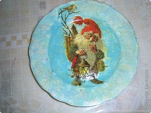 Тарелочка для мамы.(делал крестник-10 лет) фото 2