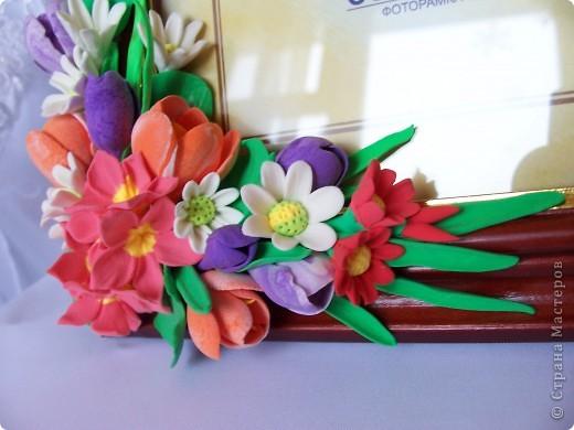 Вот такая рамочка весенняя вышла,здесь крокусы,примулы,и маленькие ромашечки разного рода))) Как вам,девочки эти цветики? фото 3