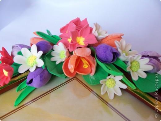 Вот такая рамочка весенняя вышла,здесь крокусы,примулы,и маленькие ромашечки разного рода))) Как вам,девочки эти цветики? фото 4