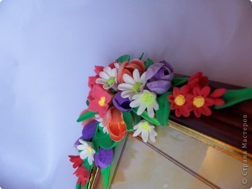 Вот такая рамочка весенняя вышла,здесь крокусы,примулы,и маленькие ромашечки разного рода))) Как вам,девочки эти цветики? фото 5
