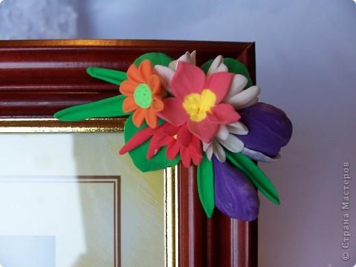 Вот такая рамочка весенняя вышла,здесь крокусы,примулы,и маленькие ромашечки разного рода))) Как вам,девочки эти цветики? фото 6