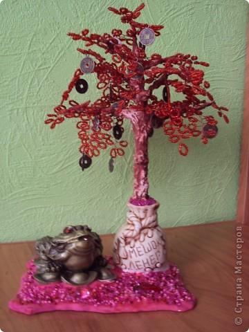 Вот такое деревце сделала моя мамуля. Высота-25см фото 1