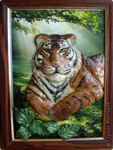 Тигр из соленого теста. фото 1