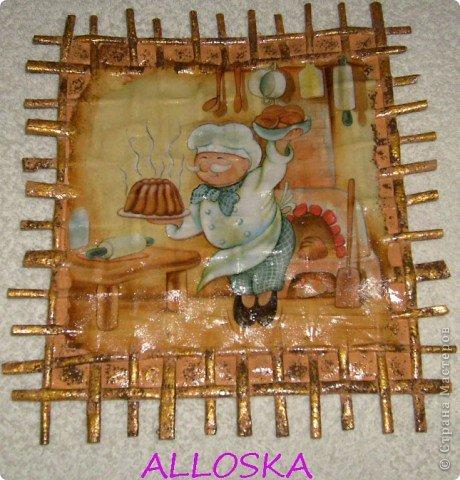 Панно из газетных трубочек,декупаж,роспись. Подарочки  к женскому празднику фото 1