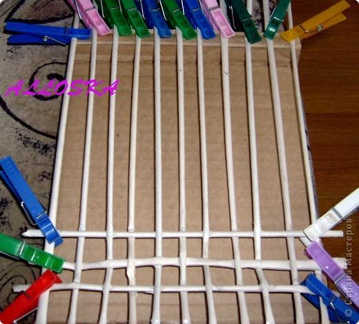 Картина панно рисунок Мастер-класс 8 марта Декупаж Плетение Панно небольшой мастер-класс Бумага газетная Краска Салфетки фото 5