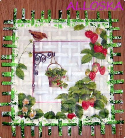 Картина панно рисунок Мастер-класс 8 марта Декупаж Плетение Панно небольшой мастер-класс Бумага газетная Краска Салфетки фото 10