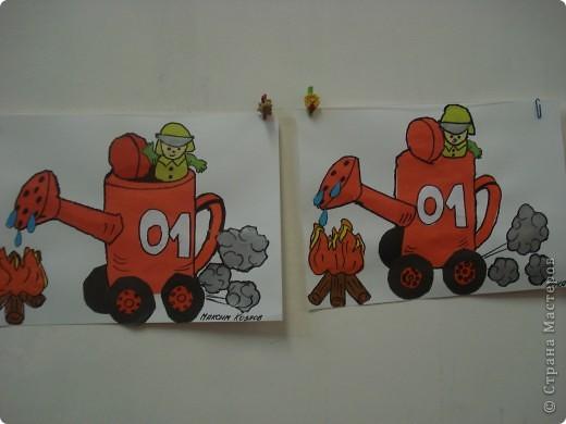 Эта работа тоже выбрана на городской конкурс по пожарной безопасности. Как стало известно позже работа заняла первое место в областном конкурсе. фото 2