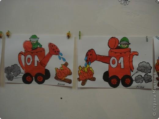 Эта работа тоже выбрана на городской конкурс по пожарной безопасности. Как стало известно позже работа заняла первое место в областном конкурсе. фото 3