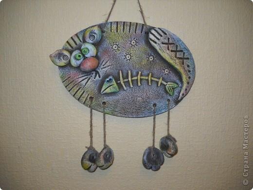"""Спасибо сайту """"Цветная рыба"""", так много интересных идей. Все бы лепила и лепила, только времени не хватает.  Кошачья любовь. фото 3"""