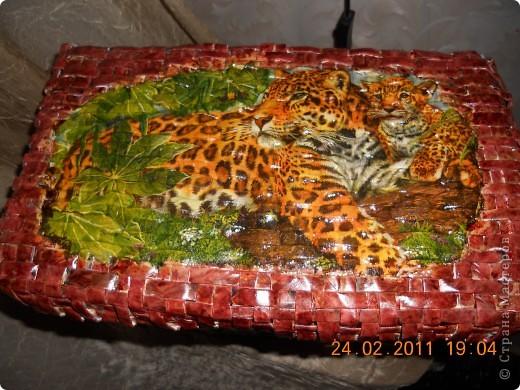 Моя вторая плетеная корзинка в африканских мотивах.Вид спереди. фото 2