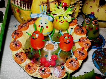 Поделка изделие Праздник осени Поделки к празднику осени Материал природный фото 2.