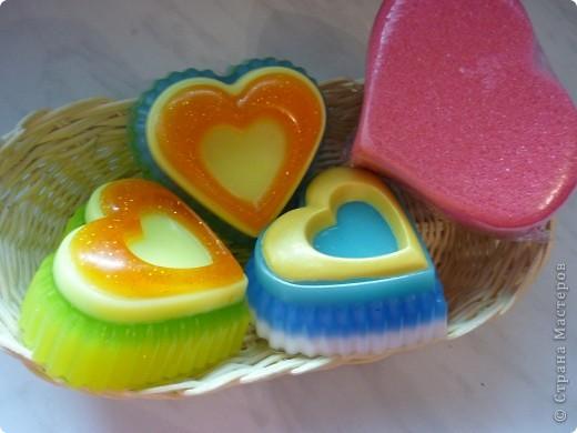 Мыло в виде ракушки из двух половинок, а внутри сердце. Аромат шоколада и вишни :-) фото 9