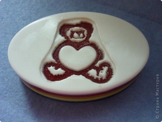 Мыло в виде ракушки из двух половинок, а внутри сердце. Аромат шоколада и вишни :-) фото 6