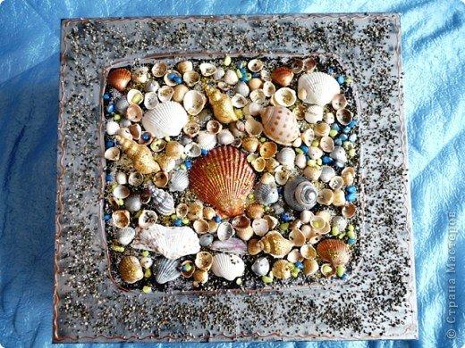 Декор коробок.Ракушки,песок. фото 3