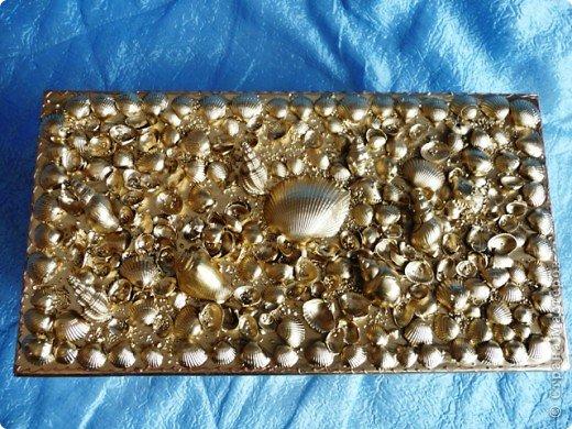 Декор коробок.Ракушки,песок. фото 4