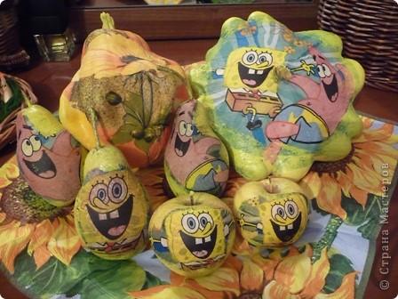 Декупаж овощей и фруктов!      кабачков,патиссонов,яблок! фото 1