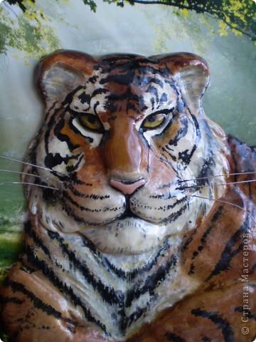 Тигр из соленого теста. фото 2