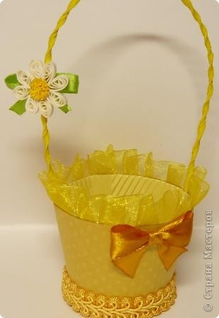 В корзиночки  можно  положить любой подарок, поставить цветы (если вставить в нее пластиковый стаканчик), можно подарит в ней пасхальное яичко и даже преподнести в ней сладкий десерт. Идея от сюда http://luntiki.ru/blog/podelki/665.html фото 3