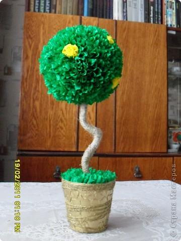 дерево из креповой бумаги фото 1
