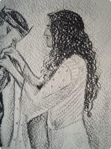 """Я уже давно не рисовала и не выставляла свои рисунки (только картины сестры), очень захотелось! Вот, такие эскизики набросала за час. """"ДОЧЬ И ОТЕЦ"""" фото 3"""