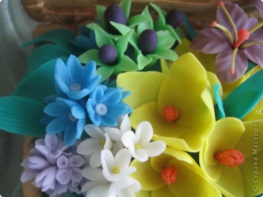 Когда увидела корзину с цветами, которую сделала Kukuscechka http://stranamasterov.ru/node/108749?c=favorite , очень захотелось сделать что-то похожее.Рождалась моя корзиночка долго и вот наконец-то: фото 5
