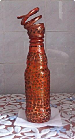 Декупаж в сочетании с лепкой и мозаикой из яичной скорлупы  фото 6