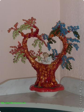 Дерево любви.Деревья из бисера.Мои работы фото 4