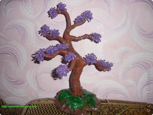 Дерево любви.Деревья из бисера.Мои работы фото 6