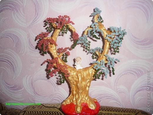 Дерево любви.Деревья из бисера.Мои работы фото 11