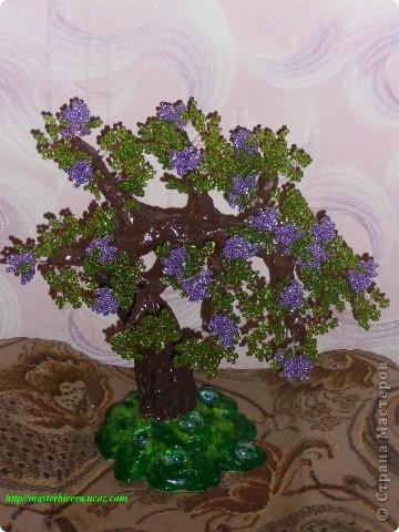 Дерево любви.Деревья из бисера.Мои работы фото 7