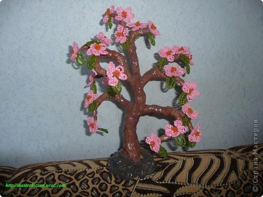 Дерево любви.Деревья из бисера.Мои работы фото 8