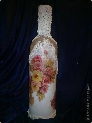 Винная бутылка с использованием яичной скорлупы фото 4