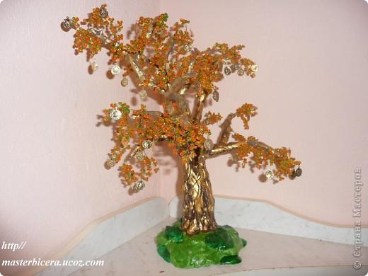 Дерево любви.Деревья из бисера.Мои работы фото 12