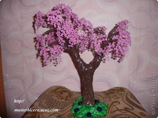 Дерево любви.Деревья из бисера.Мои работы фото 13