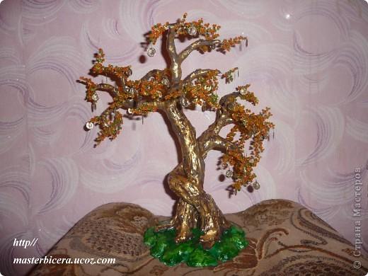 Дерево любви.Деревья из бисера.Мои работы фото 14