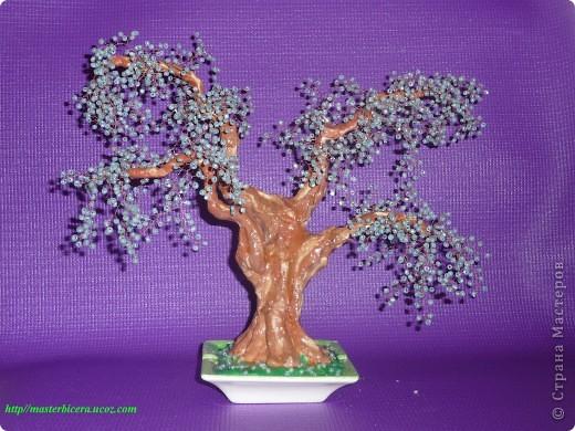 Дерево любви.Деревья из бисера.Мои работы фото 3