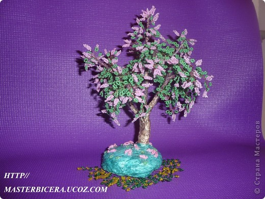 Дерево любви.Деревья из бисера.Мои работы фото 16