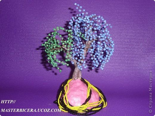 Дерево любви.Деревья из бисера.Мои работы фото 17