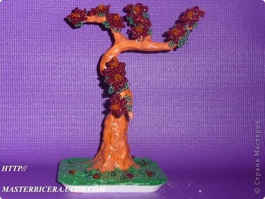 Дерево любви.Деревья из бисера.Мои работы фото 21