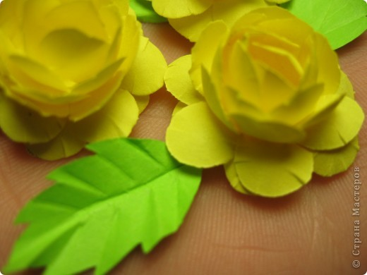 Простые розы из офисной бумаги фото 2