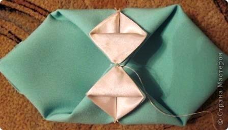 Такой оригами-кубик из ткани у меня сегодня получился! фото 8