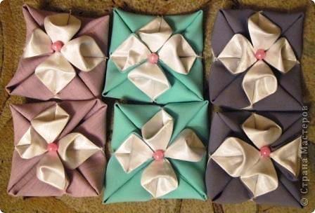Такой оригами-кубик из ткани у меня сегодня получился! фото 9