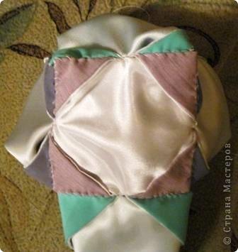 Такой оригами-кубик из ткани у меня сегодня получился! фото 10