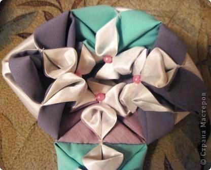 Такой оригами-кубик из ткани у меня сегодня получился! фото 11