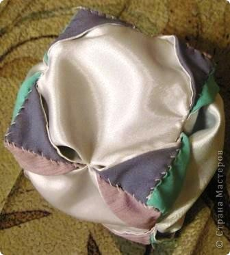 Такой оригами-кубик из ткани у меня сегодня получился! фото 12
